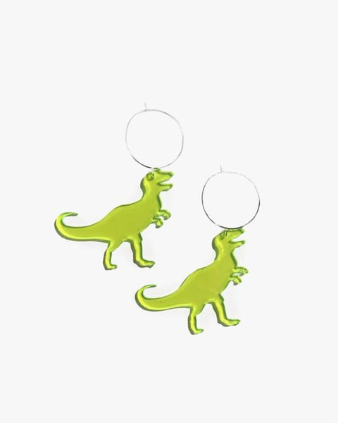 Ring Neon T-Rex Earring