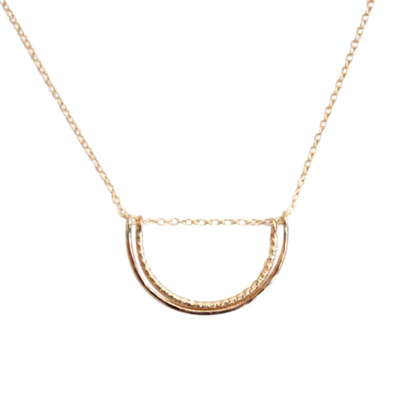 Double Semi Circle Necklace