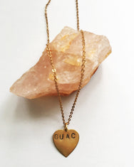 Guac Hand Stamped Necklace