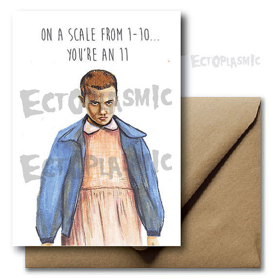 Eleven Stranger Things 1-11 Card - Ectoplasmic