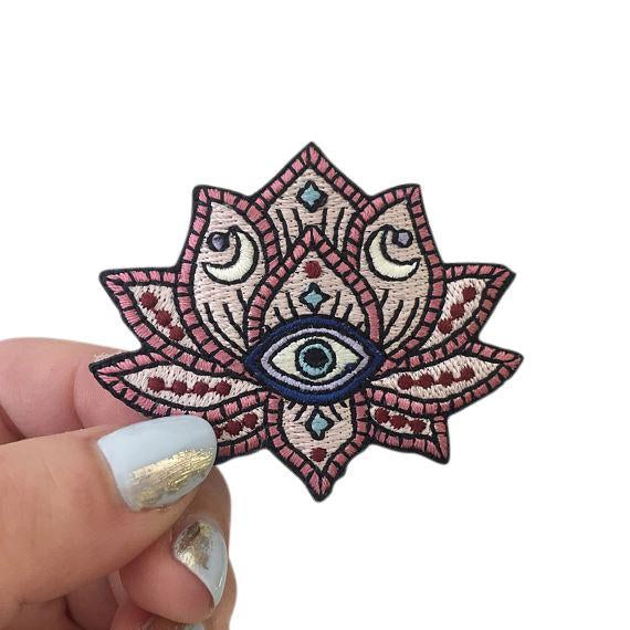 Mystical Lotus Evil Eye Patch