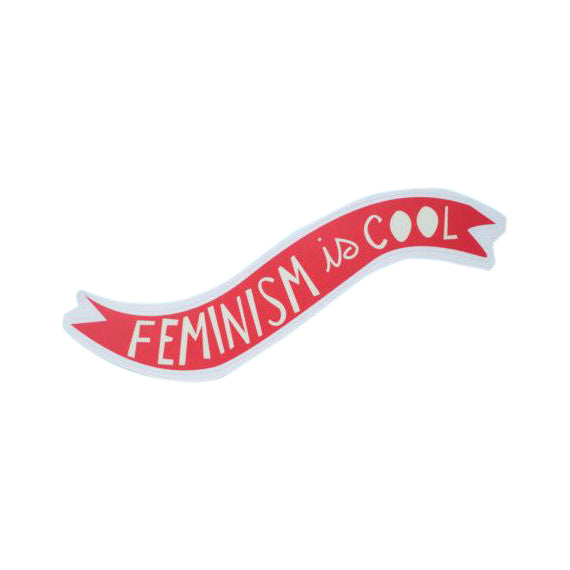 Feminism is Cool Sticker