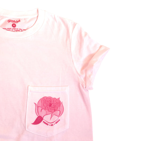 """Thick As Hell"" Peony Pocket Tee"