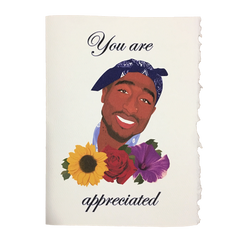 Tupac Thank You Card