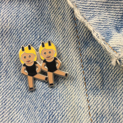 BFF Dancing Emoji Pin