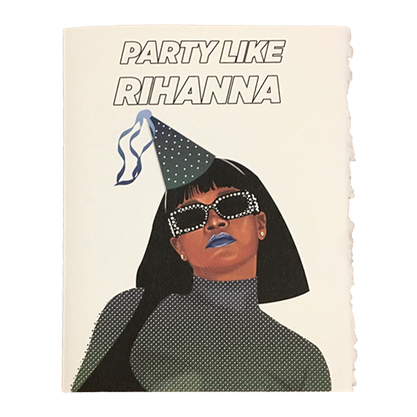 Rihanna Birthday Card