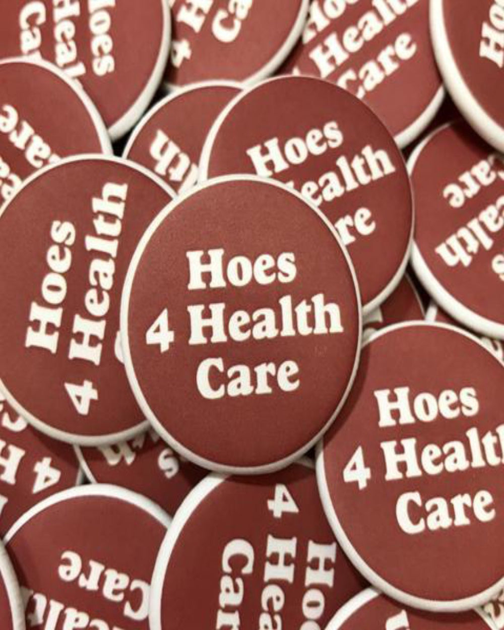 Hoes 4 Healthcare Button