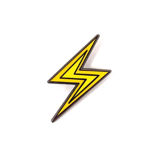 Lightning Bolt Emoji Enamel Pin Bulletin