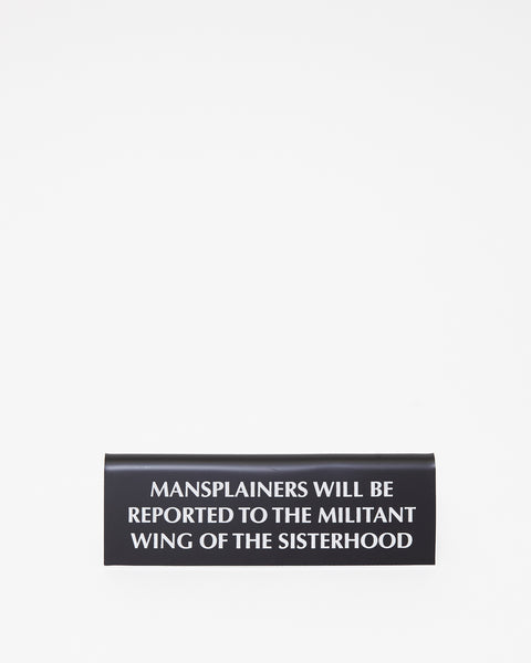Mansplainers Desk Plate