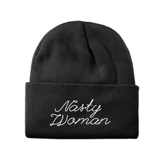 Nasty Woman Embroidered Beanie