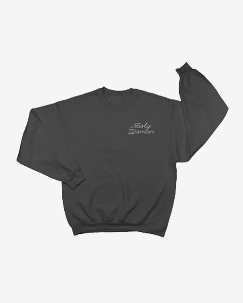Nasty Woman Embroidered Sweatshirt