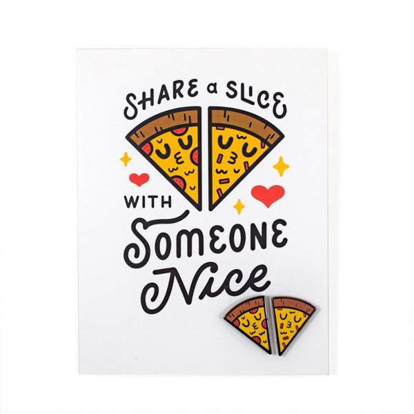 Share A Slice Card + Pin Set