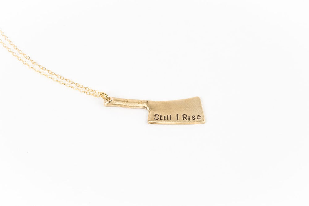 Gold Knife Necklace