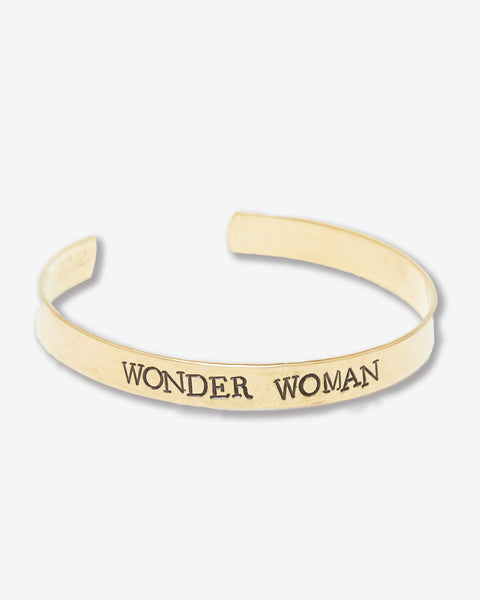 Wonder Woman Stamped Brass Cuff
