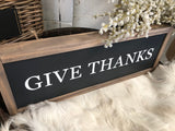 Give Thanks Handmade Sign