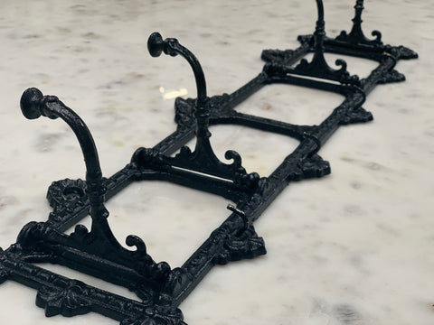 NEW Black Cast Iron Folding Hooks