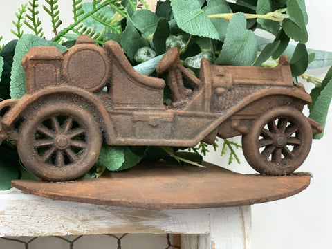 Cast Iron Jeep on stand