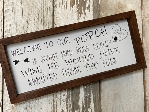 Welcome to our PORCH Handmade Sign