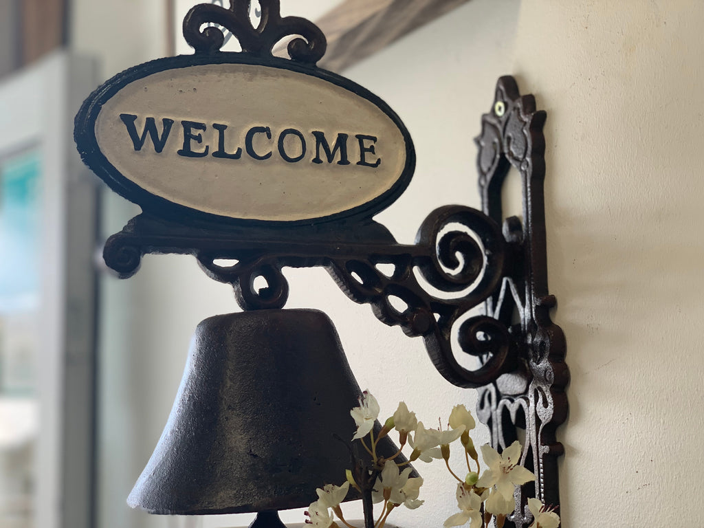 Welcome Cast Iron Bell