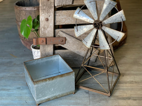 Windmill and Planter Box