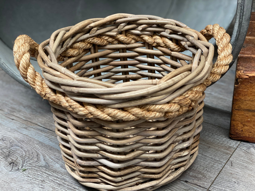 Rattan Rope Basket with Handles