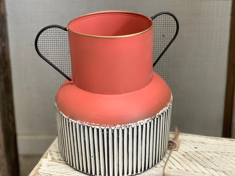 Coral Urn Planter with Handles