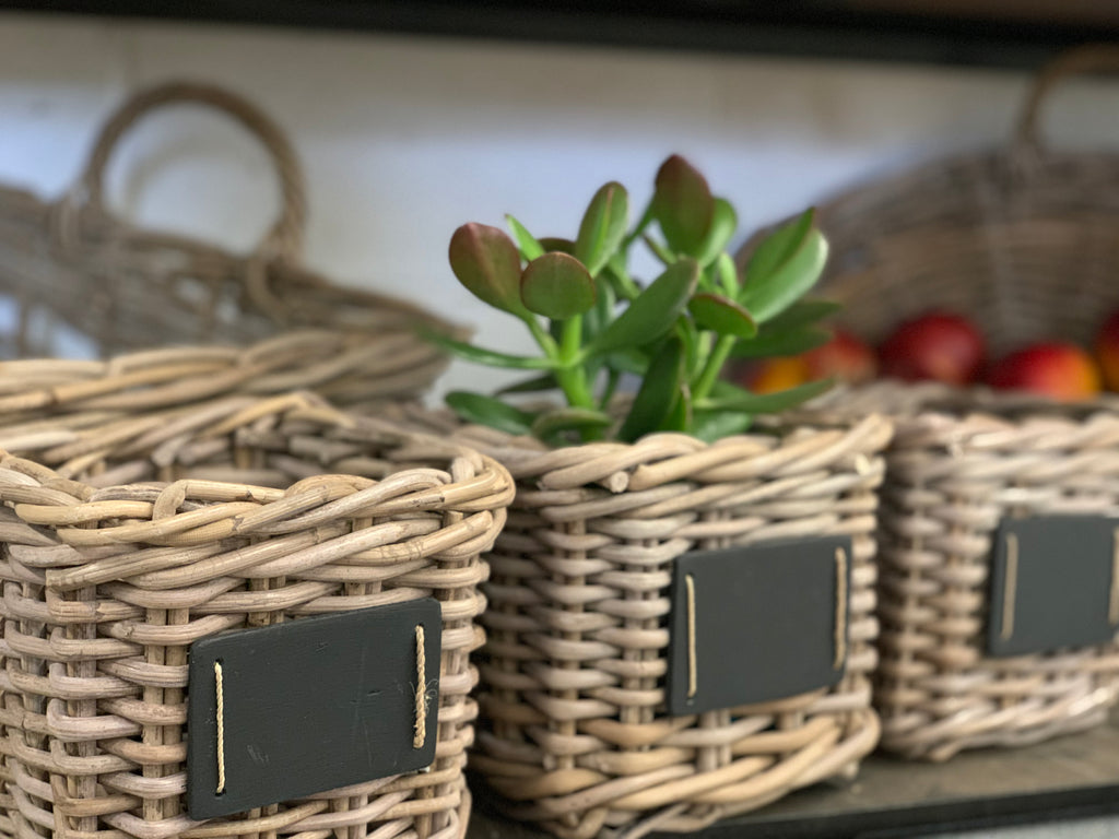 Set of 3 Small Basket with Chalk Board