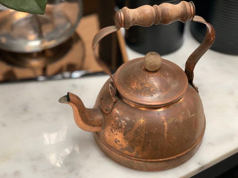 Vintage Copper Tea Pot