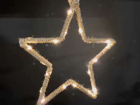 Hessian Hanging SPARKLE Star
