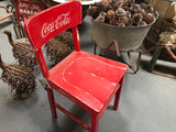 RED Chalk Painted Coke Cola Vintage Timber Chair
