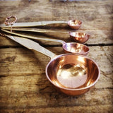 Copper Plate Measuring Spoon Set 4 BACK SOON