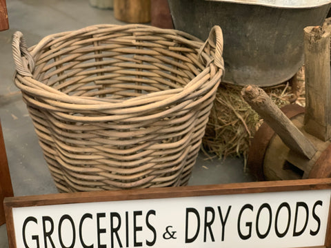Groceries and Dry Goods Handmade Sign