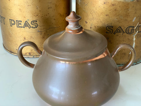 Vintage Copper Sugar Bowl