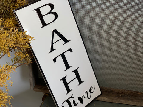 BATH Time Enamel Sign
