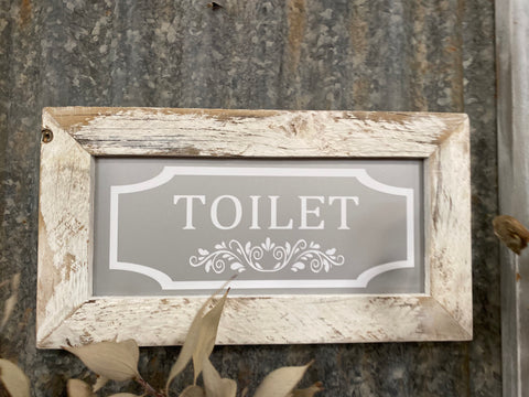 Handmade Toilet Sign
