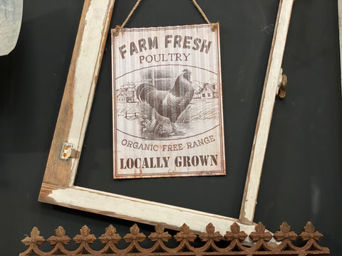 Tin Farm Fresh POULTRY Sign FREE Postage