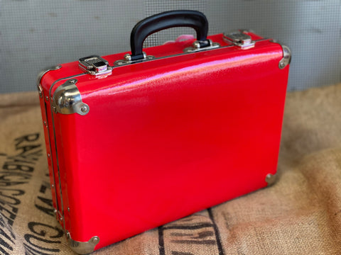 The RODGER Red Vintage Style Suitcase