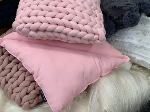 The Double Triangle Pink Cushion