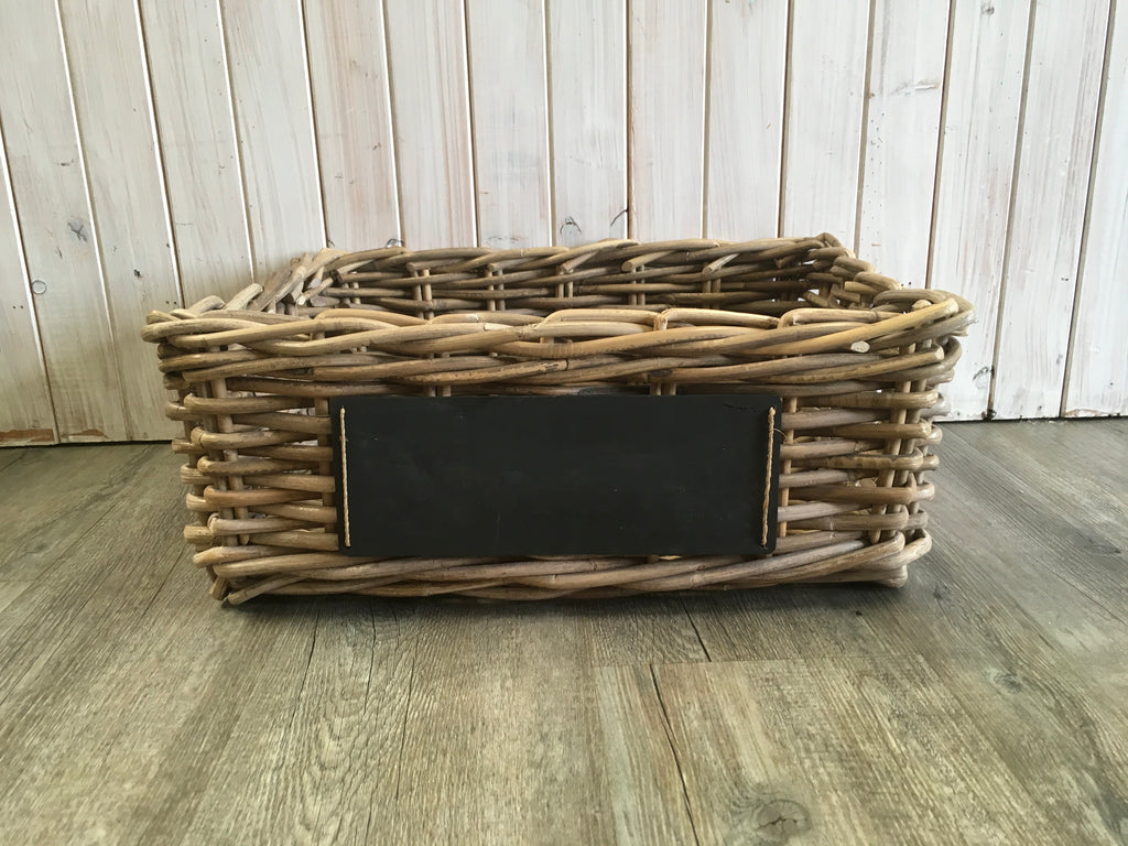 Rectangular Basket with Chalk Board
