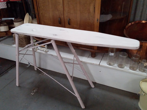 VINTAGE White Painted Ironing Board