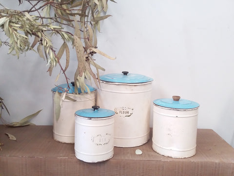 DUCKEGG Blue Cooking Canisters