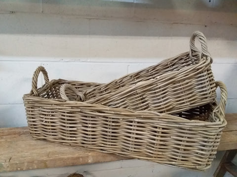 Long Rattan Basket