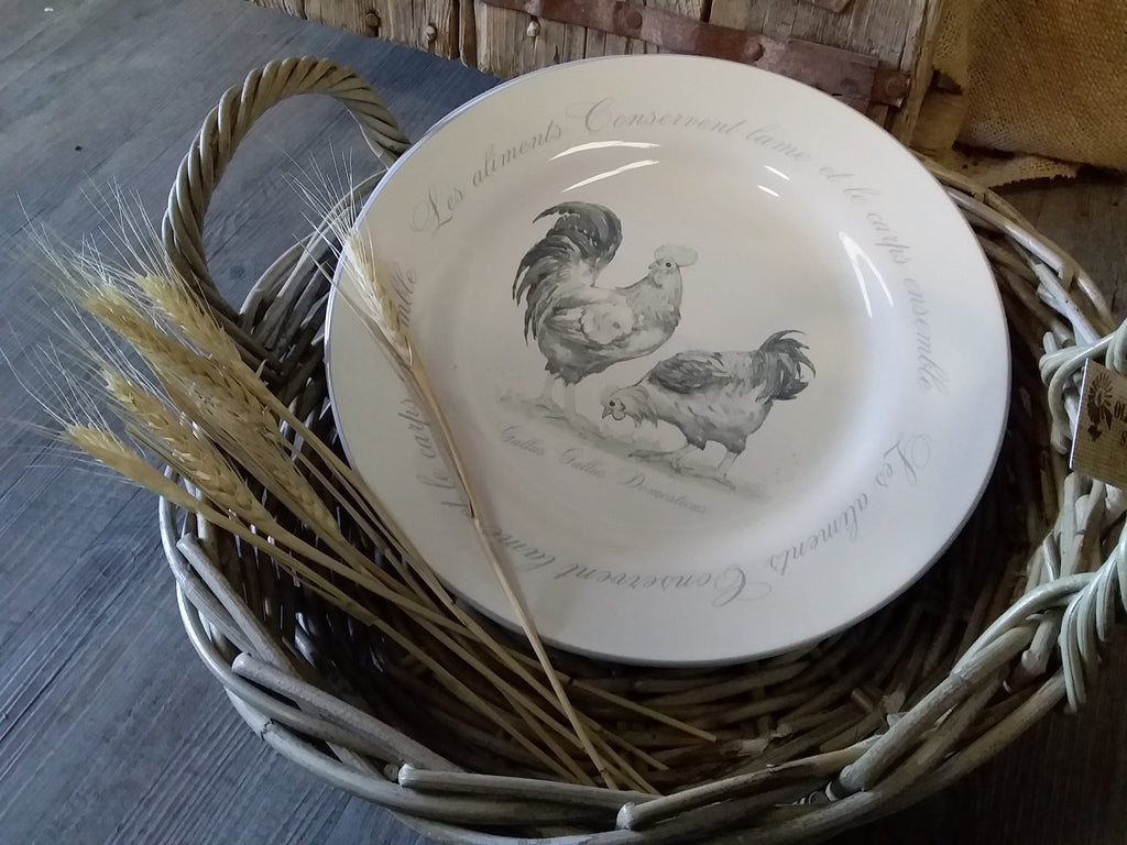 NEW Hen & Roosters Plate Set of 6