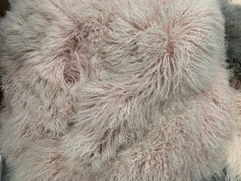Mongolian Sheep Blush Grey Shades Bean Bag