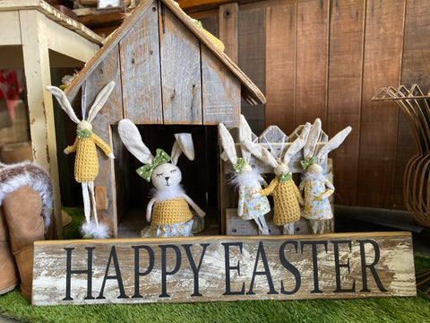 HAPPY EASTER Handmade RUSTIC Sign