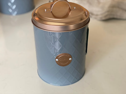 Rose Gold Cookies Tin