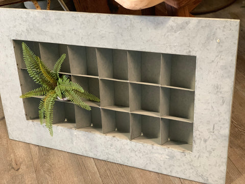 NEW Galvanised Succulent Wall Planter