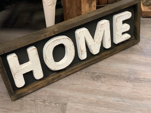 Handmade Timber Chunky Sign