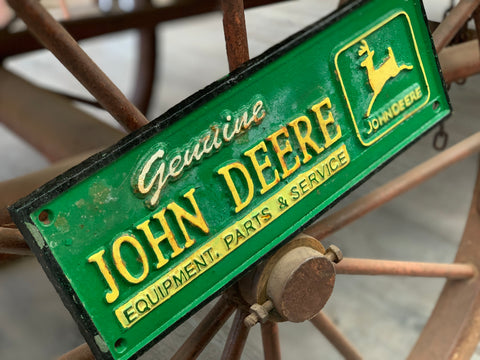 John Deere Cast Iron Sign
