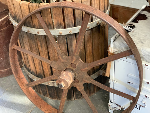 Set Vintage Wagon Wheels